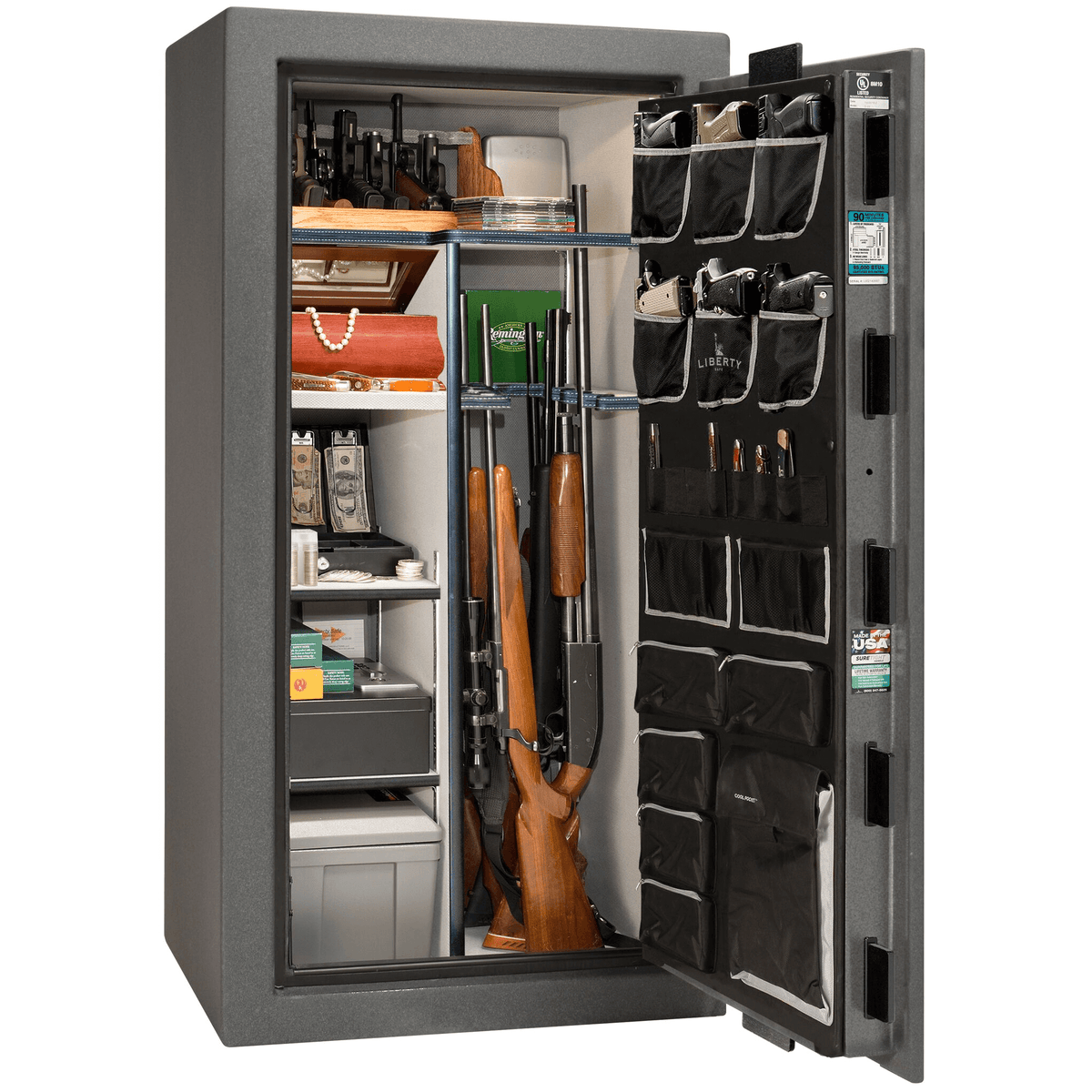 "Lincoln Series | Level 5 Security | 90 Minute Fire Protection | Bronze Textured | Electronic Lock | 40 | Dimensions: 66.5""(H) x 36""(W) x 32""(D)"