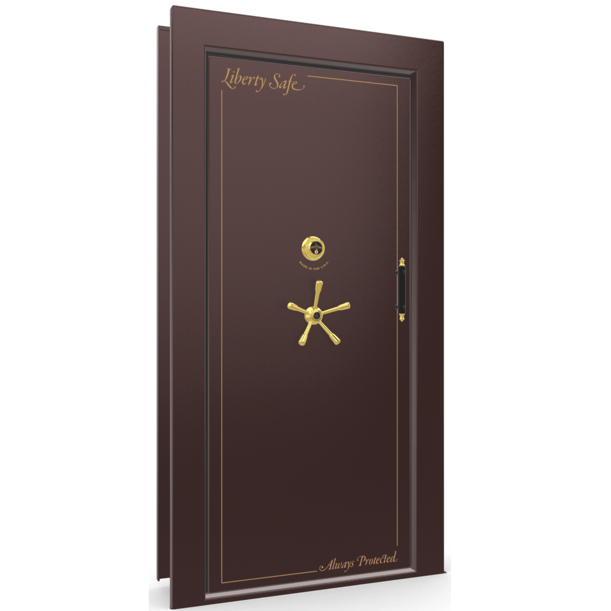 Vault Door Series | Out-Swing | Left Hinge | Burgundy Marble | Electronic