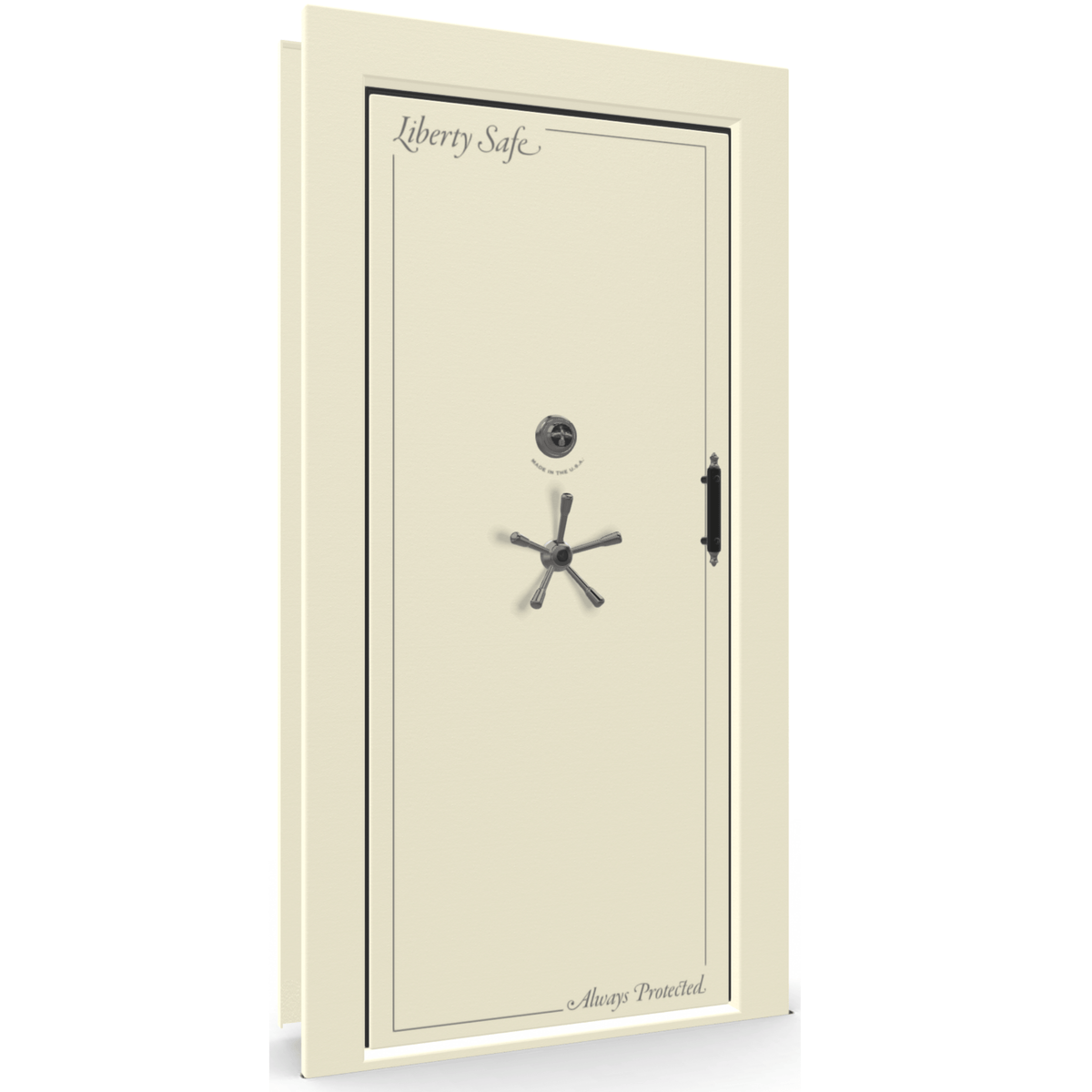 Vault Door Series | Out-Swing | Left Hinge | Blue Gloss | Electronic