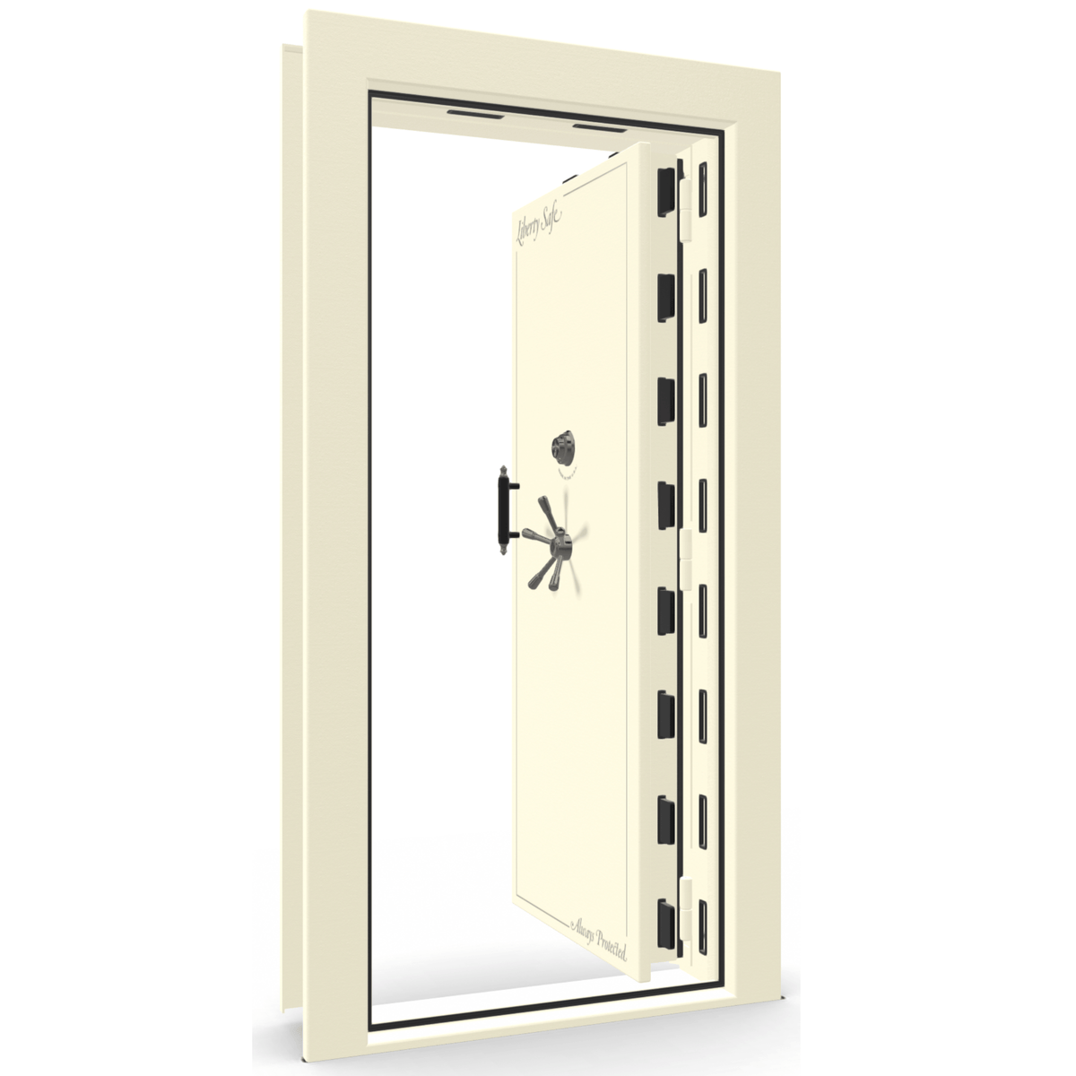 Vault Door Series | Out-Swing | Right Hinge | Burgundy Marble | Mechanical