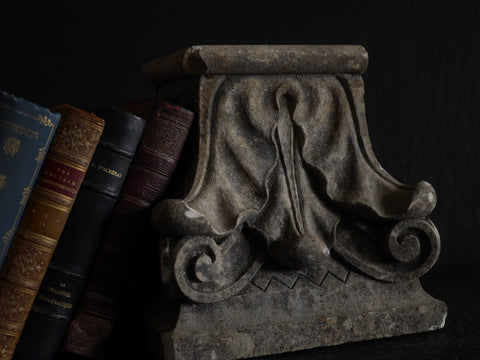 Carved plinth/column top