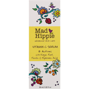 Mad Hippie維他命C活肌美白更新精萃 30ml  Mad Hippie Skin Care Products, Vitamin C Serum, 8 Actives, 1.02 fl oz (30 ml)