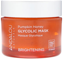 Load image into Gallery viewer, 南瓜蜂蜜果酸果凍面膜 Andalou Naturals, Glycolic Mask, Pumpkin Honey, Brightening, 1.7 oz (50 g)