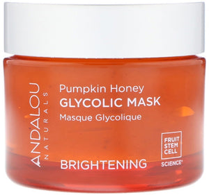 南瓜蜂蜜果酸果凍面膜 Andalou Naturals, Glycolic Mask, Pumpkin Honey, Brightening, 1.7 oz (50 g)