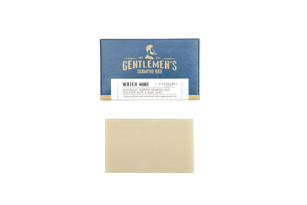 Gentlemen Castelbel Traveller Water Mint Shampoo Bar 180g