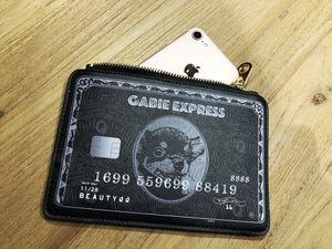 Gabie Express Black Mini Card 雞肶好運黑卡零錢包