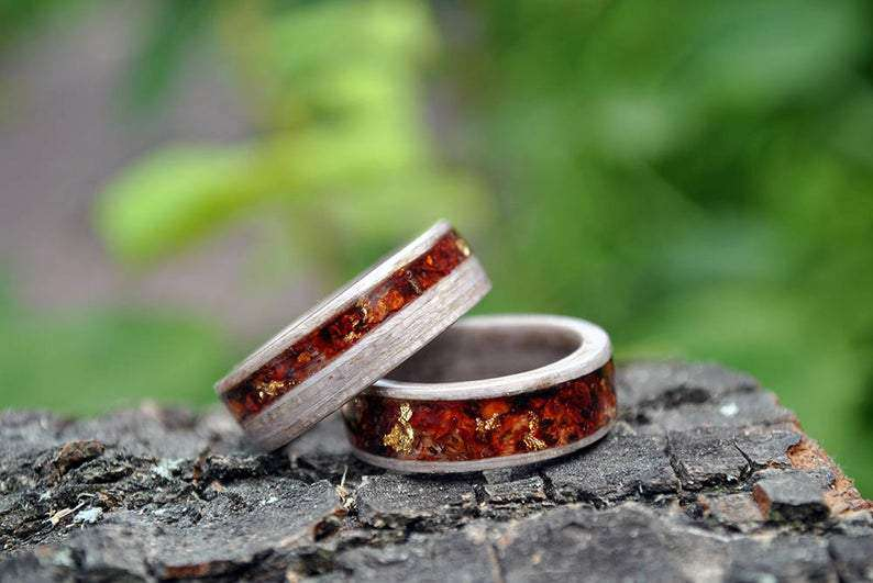 Forever Entwined Handcrafted Wedding Rings Set | Grooves