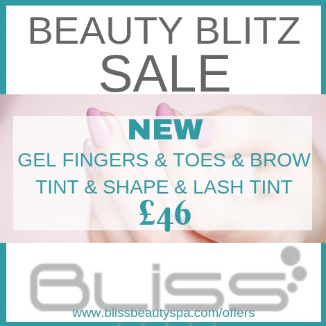 gel fingers and toes, with brow tint and shape
