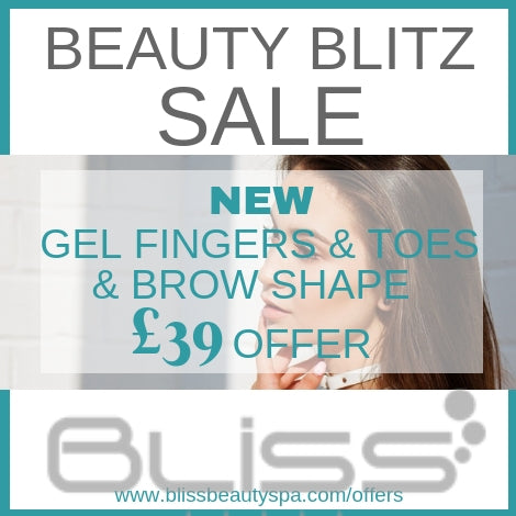 gel fingers and toes and brow shape