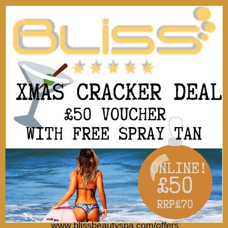 beauty spa voucher with free spray tan