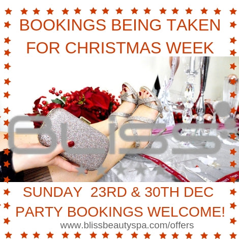 christmas and new years eve beauty spa appointments