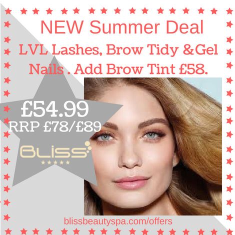 lvl, gel nails and brow deal