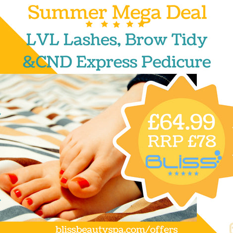 lvl, brows and cnd pedicure