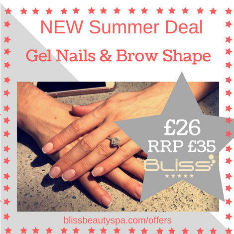 gel nails and brow shape