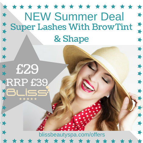 super lashes with eyebrow shape and tint