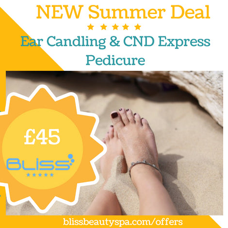 ear candling and cnd express pedicure