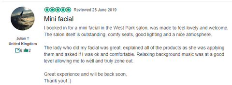 review of bliss beauty spa leeds