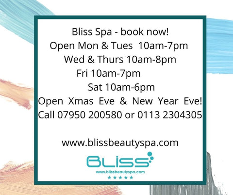 bliss beauty spa leeds opening hours