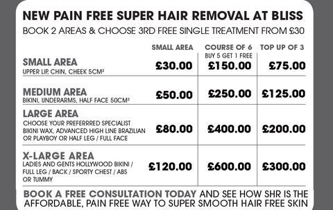 super hair removal at bliss