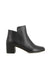 Black leather ankle boots that have inner zipper fastening and features a mid 6 cm block heel and a round toe by 2 Baia Vista.