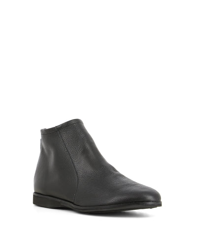 Sleek and comfortable black leather ankle boots that have a zipper fastening at the back and features a round toe by Rollie.