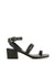 strappy black leather heeled sandal by Senso. The 'Kody' had buckle fastening and features a toe loop, block heel and a square toe.