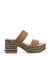 Spanish tan plaited leather sandals featuring a woven platform sole and double strap upper. Made by Nattiva - this style runs true to size.