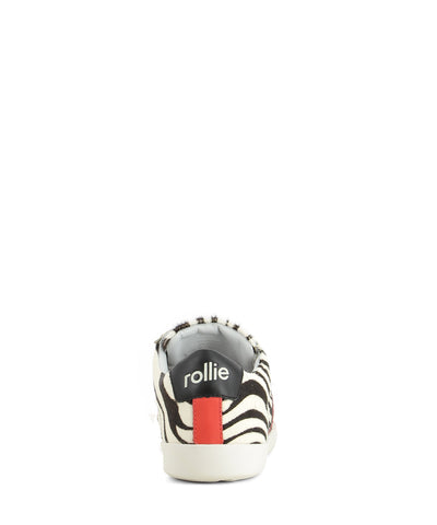 Comfortable and lightweight zebra-print sneakers that features black laces, contrast sticking on the new Rollie logo and a round toe by Rollie.