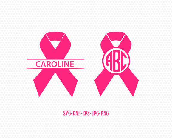 Cancer Ribbon Monogram SVG,Cancer Survivor,Awareness Ribbon SVG, breast cancer ribbon svg,Files for Cricut cameo Silhouette svg jpg png dxf