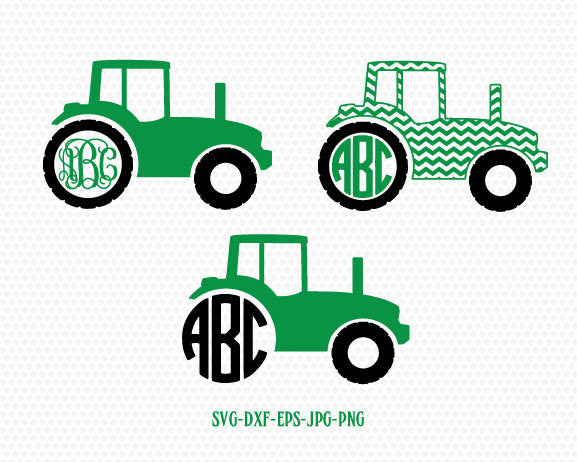 Tractor Monogram farmes svg,farmer svg, cut file for cutting machines, for CriCut Silhouette cameo Files svg jpg png dxf