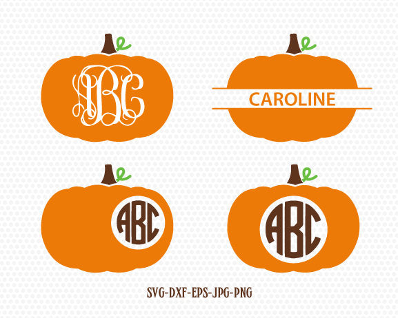 pumpkin monogram frames svg, fall svg, fall pumpkin svg, fall monogram frames svg ,CriCut Files svg jpg png dxf Silhouette cameo