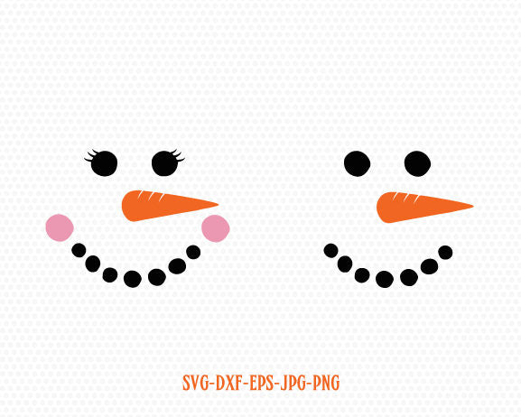 Snowman face,Christmas snowman, Cute girl snowman face, Christmas SVG Cutting File Svg, CriCut Files svg jpg png dxf Silhouette cameo
