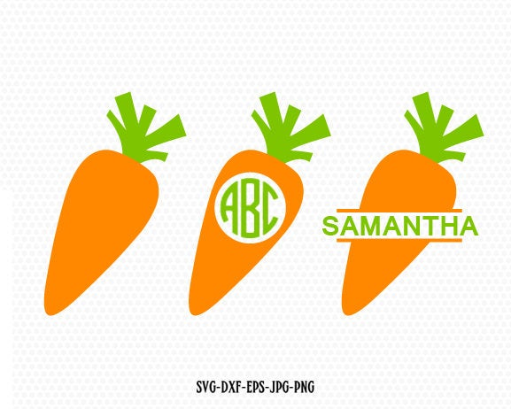 Carrot SVG, carrot monogram svg, Carrot Split Monogram , Carrot Clipart, CriCut Files frame Cricut download svg jpg png dxf Silhouette cameo