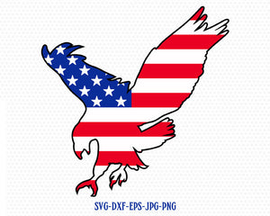 eagle svg, eagle svg file, american eagle svg, Fourth of July SVG, 4th of July Svg, Patriotic SVG, Cricut, Silhouette Cut File, svg dxf