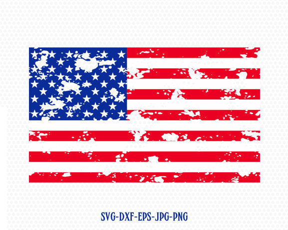 American usa distressed flag svg, usa flag svg, Fourth of July SVG, 4th of July Svg, Patriotic SVG, Cricut, Silhouette Cut File svg dxf