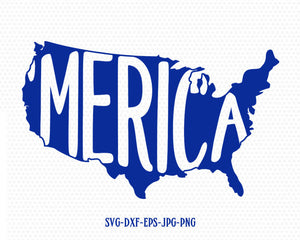 merica usa map svg, America flag svg, Fourth of July SVG, 4th of July Svg, Patriotic SVG, America Svg, Cricut, Silhouette Cut File, svg dxf