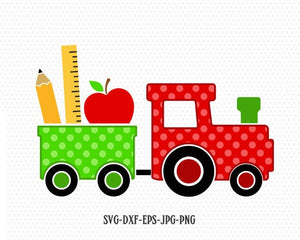 School train svg, cute train svg, Teacher SVG, back to school svg, Pencil SVG, school svg, for CriCut Silhouette cameo Files svg jpg png dxf