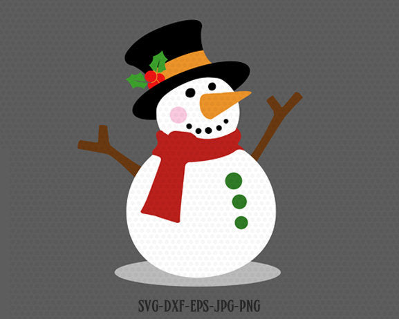 Snowman svg, Christmas snowman svg, let it snow, Christmas SVG, Cutting File Svg, CriCut Files svg jpg png dxf Silhouette cameo