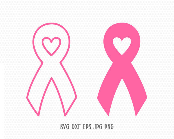 Cancer Ribbon Heart love SVG,Cancer Survivor,Awareness Ribbon SVG, breast cancer ribbon svg,Files for Cricut Silhouette svg jpg png dxf
