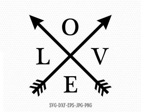 Love arrows svg, Valentine SVG, Valentines Day SVG, Love SVG, Love Heart Svg,CriCut Files svg jpg png dxf Silhouette cameo