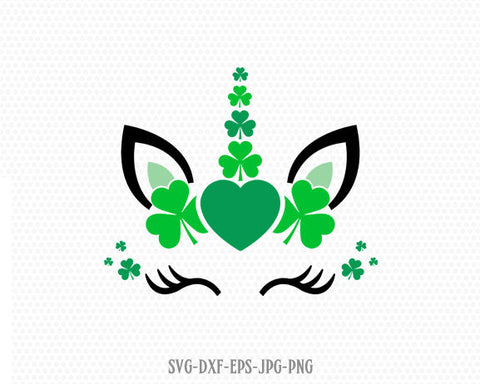 St Patrick's Day unicorn svg, unicorn svg, St Patrick's Day svg, Lucky SVG, shamrock unicorn svg, cricut Silhouette cut file svg dxf jpg png
