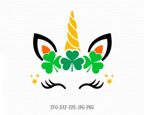 St Patrick's Day unicorn svg, cute unicorn svg, St Patrick's Day svg, Lucky SVG, shamrock svg, cricut Silhouette cut file svg dxf jpg png