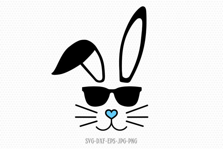 Bunny Svg, Easter Svg, Boy Cute Easter Bunny Svg, Easter Cut File, Bunny face Svg, cut Files Cricut svg jpg png dxf Silhouette cameo