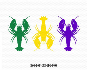 Crawfish svg, mardi gras Crawfish svg, Fleur De Lis svg, mardi gras svg, CriCut Files svg jpg png dxf Silhouette