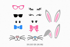 easter Bunny kit Svg, Easter Svg, Easter Bunny Svg, Easter cut Files Cricut svg jpg png dxf Silhouette cameo