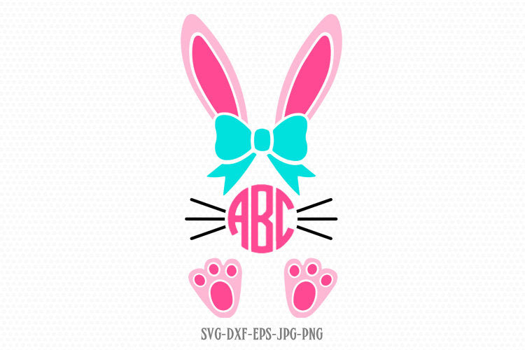 Bunny Svg, Easter Svg, Girl Cute Easter Bunny Svg, Easter Cut File, Bunny face legs Svg,cut Files Cricut svg jpg png dxf Silhouette cameo