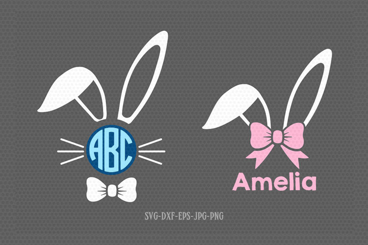 Bunny Svg, Easter Svg,Boy Girl Cute Easter Bunny Svg, Easter Cut File, Bunny face legs Svg,cut Files Cricut svg jpg png dxf Silhouette cameo