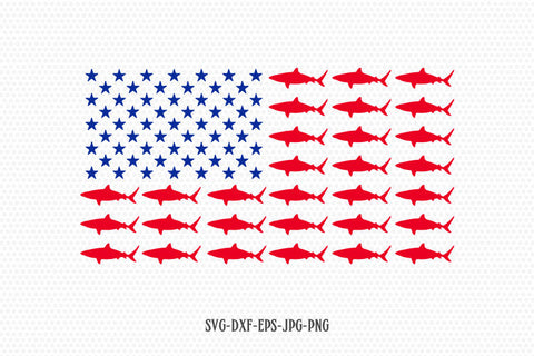 Shark usa flag svg, shark svg, usa svg, American Flag, Fourth of July SVG, 4th of July Svg, Patriotic SVG, Cricut Silhouette svg dxf