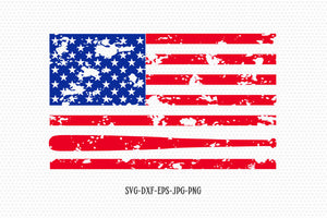 Baseball usa flag, usa svg, American Flag, Fourth of July SVG, Baseball 4th of July Svg, Patriotic SVG, Cricut Silhouette Cut File svg dxf