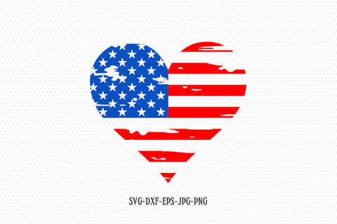 Usa heart shape distressed flag svg, America flag Svg, of July SVG, 4th of July Svg, Patriotic SVG, Cricut Silhouette Cut Files svg dxf